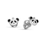Детские сережки панды