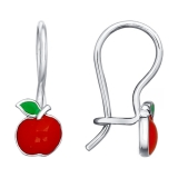 Детские сережки-яблочки
