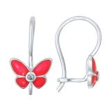 Детские сережки бабочки