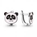 Детские сережки-панды