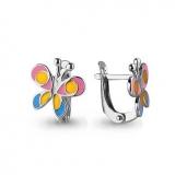 Детские сережки-бабочки