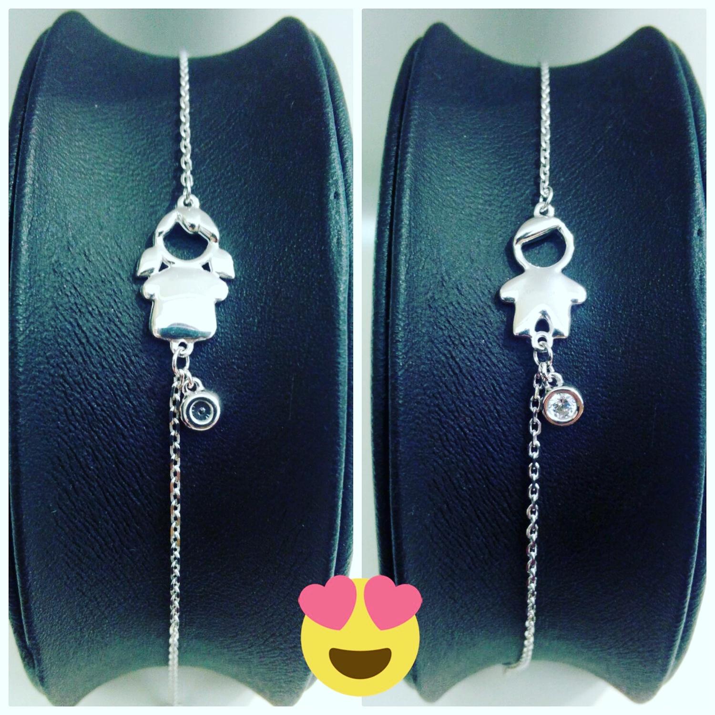 Серебряные браслеты с детками