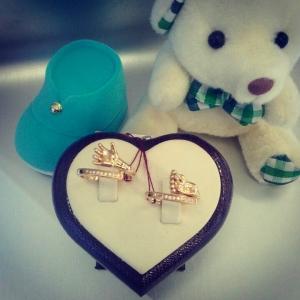 Золотые кольца ладошка и пяточка