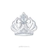 Серебряная брошь-корона