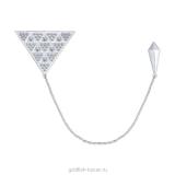 Серебряная брошь-галстук