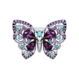 Серебряная брошь-бабочка