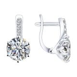 Серебряные серьги с кристаллами Сваровски