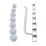 Серебряные серьги-перевертыши