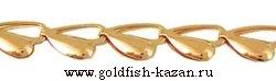 Штампованная золотая цепь Сердечки