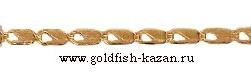 Штампованная золотая цепь Прямоугольная