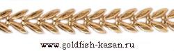 Штампованная золотая цепь Колос