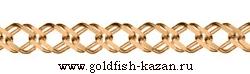 Золотая цепь плетение Двойной Ромб