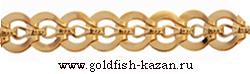 Штампованная золотая цепь Круглая