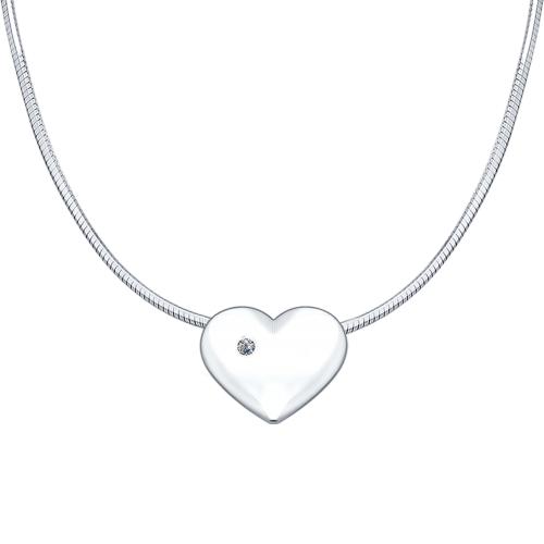 Серебряное колье Любовь