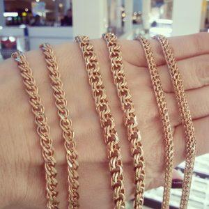 Золотые цепочки в Казани