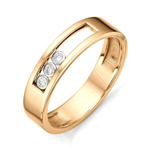 Золотое кольцо с двигающимися бриллиантами