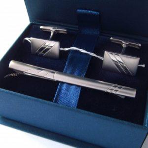 Комплект запонки и зажим для галстука