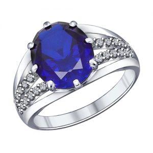 Серебряное кольцо с наносапфиром