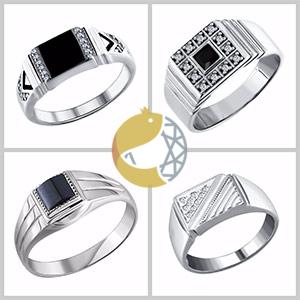Мужские печатки и кольца