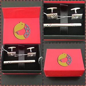 Серебряные зажимы для галстука и запонки