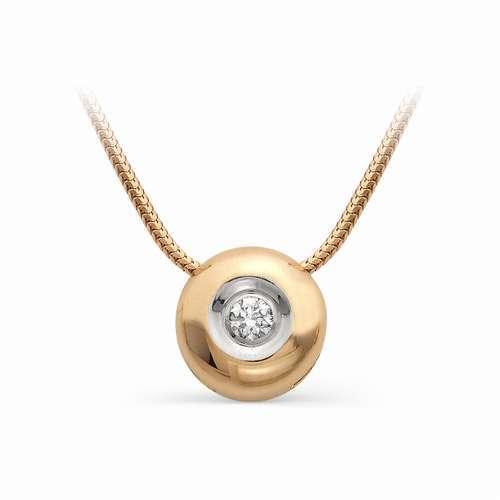 Золотая подвеска-бегунок с бриллиантом